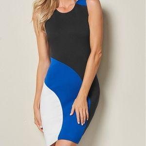 Venus Color Block Bodycon Dress, Medium